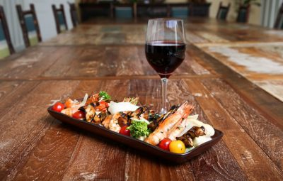 Nebbiolo pairs well with the prawns to be included on Harvest restaurant's upcoming dinner menu.   Photo by Jody Tiongco