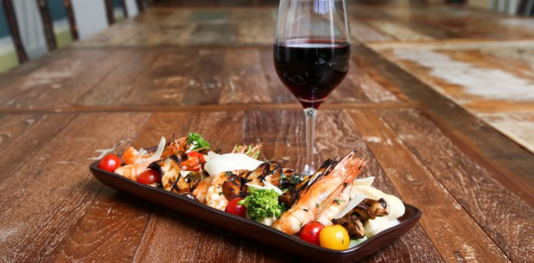 Nebbiolo pairs well with the prawns to be included on Harvest restaurant's upcoming dinner menu. | Photo by Jody Tiongco