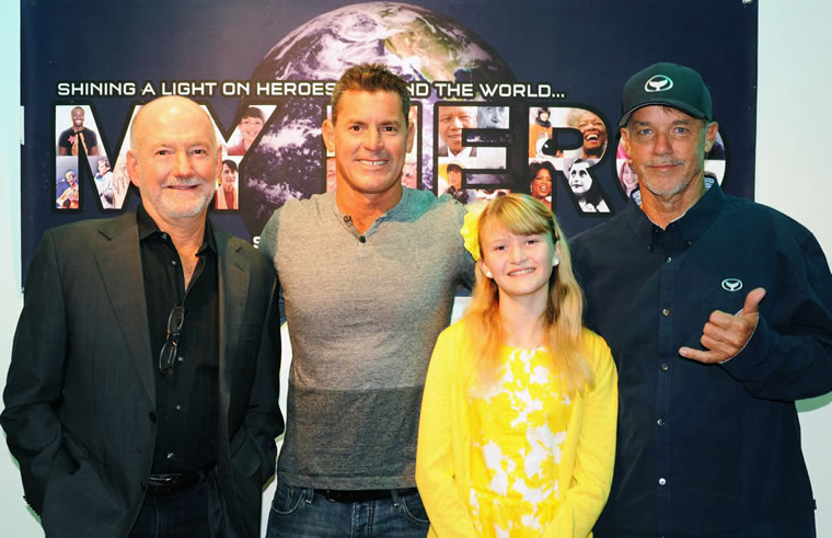 "Greg MacGillivray, James Pribram, Jordan Trautwein and Wyland at the ""Laguna Beach Eco Heroes"" premiere 