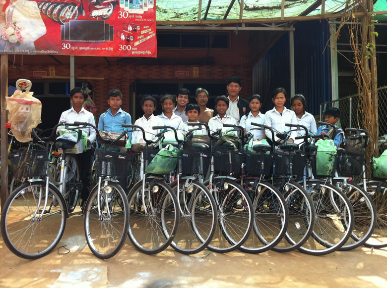 Stan Frymann and several other Laguna locals sponsor more than 30 students in rural Cambodia.