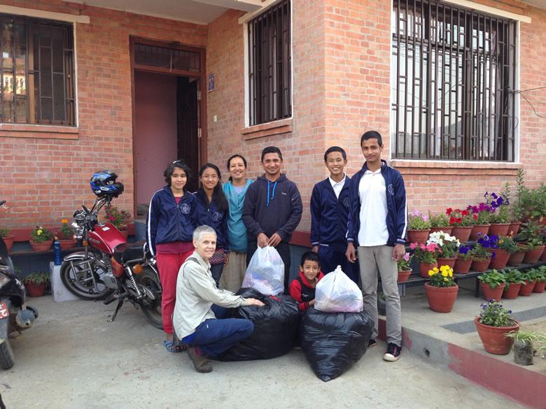 Christine Casey (front left) of Chhahari Organization Nepal
