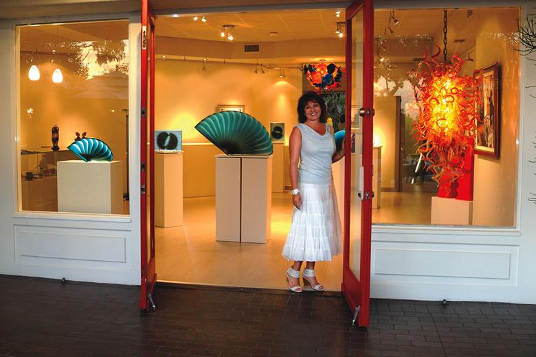 Avran Art & Design gallery owner Marta Juhasz   Photo courtesy of Avran Art & Design