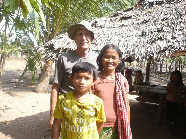 Stan Frymann (back) is building a school in Cambodia.