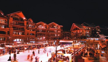 The Village at Northstar features an ice skating rink, dining and shopping.   Photo by Aaron Rosen/Courtesy of Northstar