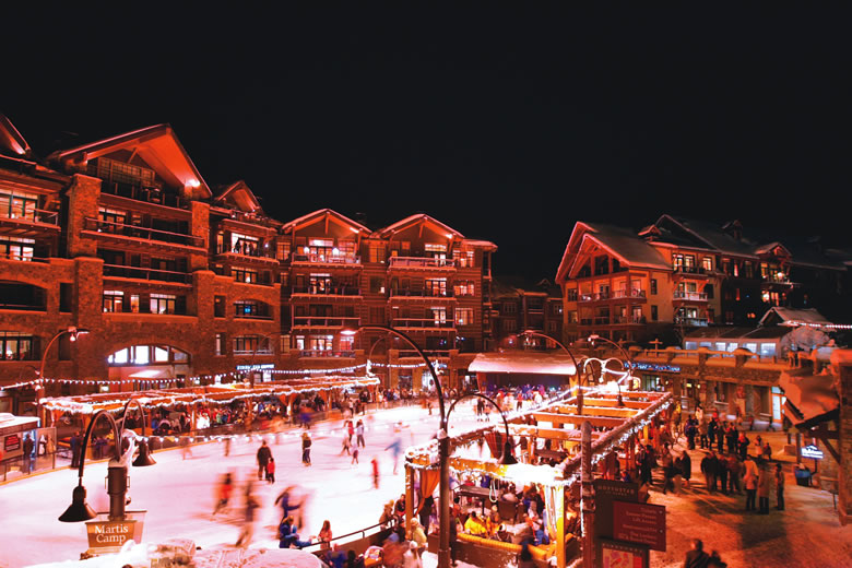The Village at Northstar features an ice skating rink, dining and shopping. | Photo by Aaron Rosen/Courtesy of Northstar