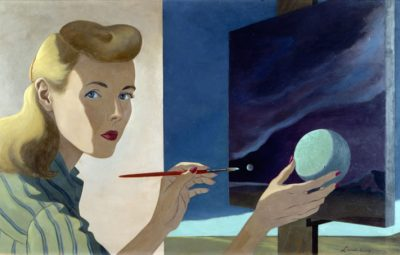 """Self-Portrait"" by Helen Lundeberg (Collection of Zimmerli Art Museum at Rutgers University, Gift of Lorser Feitelson and Helen Lundeberg Feitelson Foundation)"