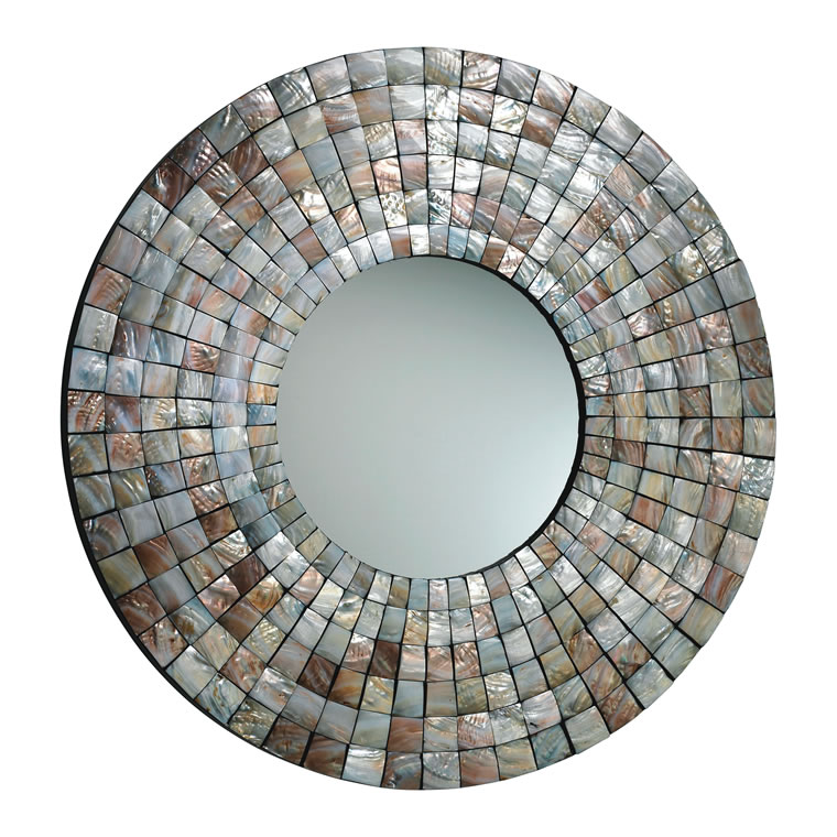 MOSAIC TILE MIRROR, $605, available with advance order at Bliss Home & Design, Corona del Mar (949-566-0304; blisshomeanddesign.com)