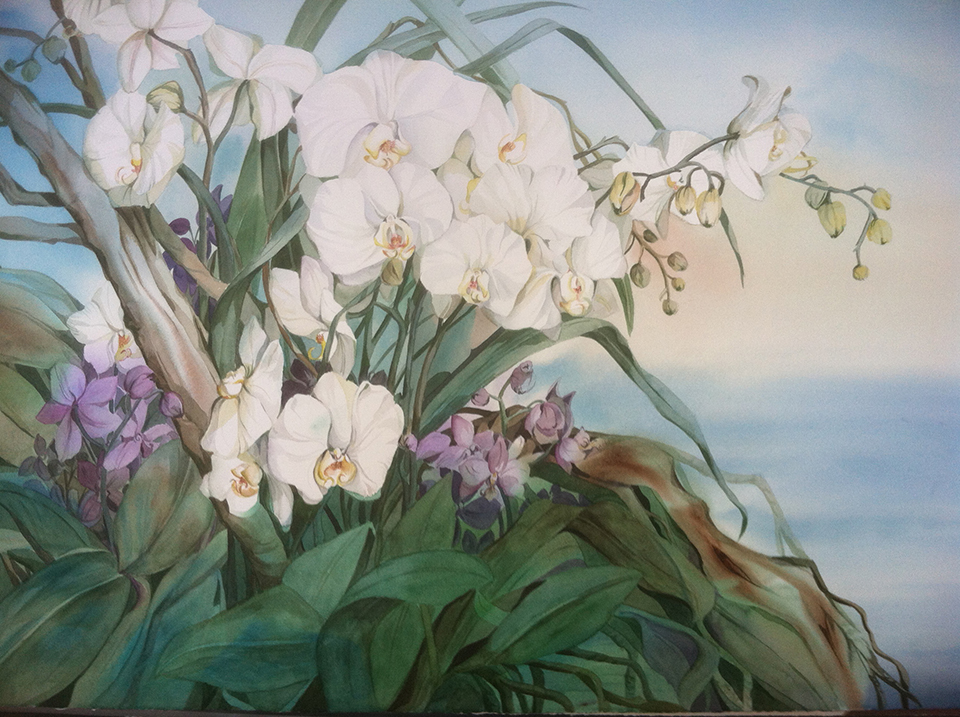 """Orchids by the Sea"" by Lydia Delgado (Photo by Stephen Keeling)"