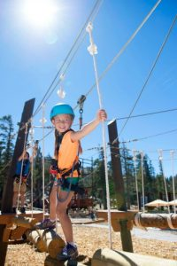 The Bear Cub Ropes Course is geared toward families with younger children.