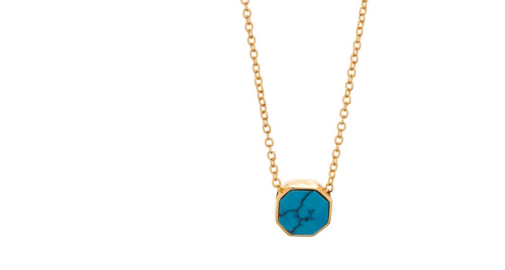 Power Gemstone Turquoise Charm Necklace