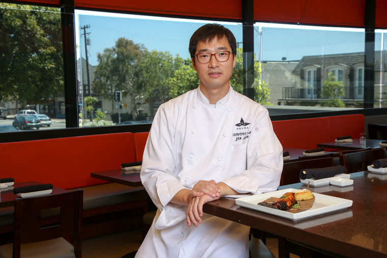 Jin Heo took inspiration from his mother's recipe for Okura Robata Grill & Sushi Bar's saikyo miso sea bass.