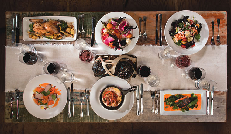 Entrees planned for The Ranch at Laguna Beach's Harvest restaurant dinner menu | Photo courtesy of The Ranch at Laguna Beach