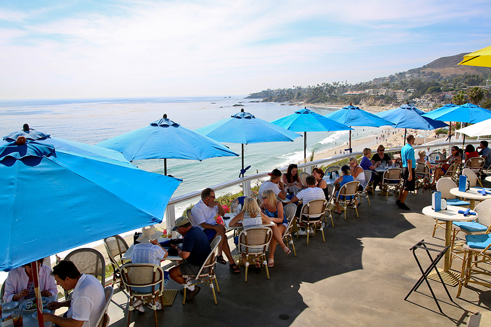 Enjoy Laguna's ocean views while sipping wine at The Cliff Restaurant. (Photo by Jody Tiongco)