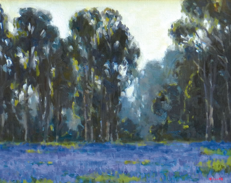 """""""Lupine and Eucalpytus"""" by Gregory Hull, The Redfern Gallery"""