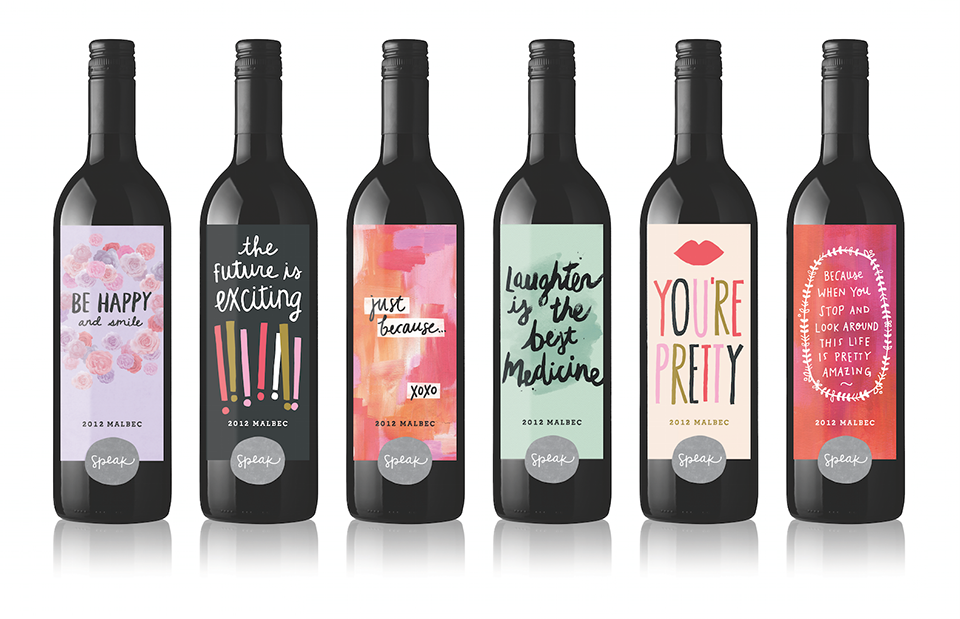 """The top seller in Speak Wines' first collection is """"You're Pretty."""" (Courtesy Speak Wines)"""