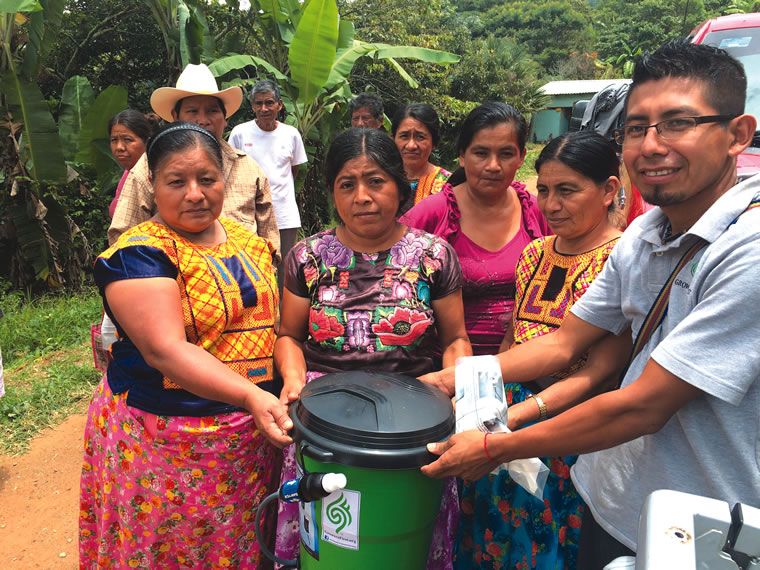 Growers First also distributes drinking water filters to families in Oaxaca.