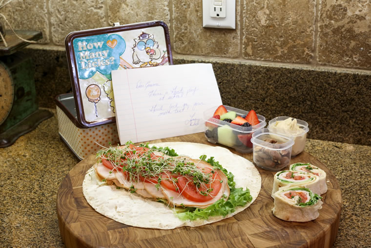 Chef Marc Cohen's kids find nutritious food and encouraging notes in their lunchboxes.
