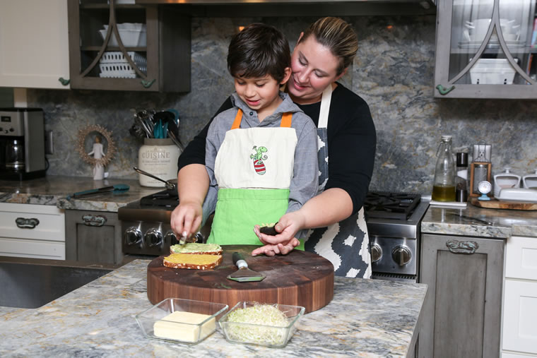 Nirvana Grille's Lindsay Smith-Rosales with her son, Diego