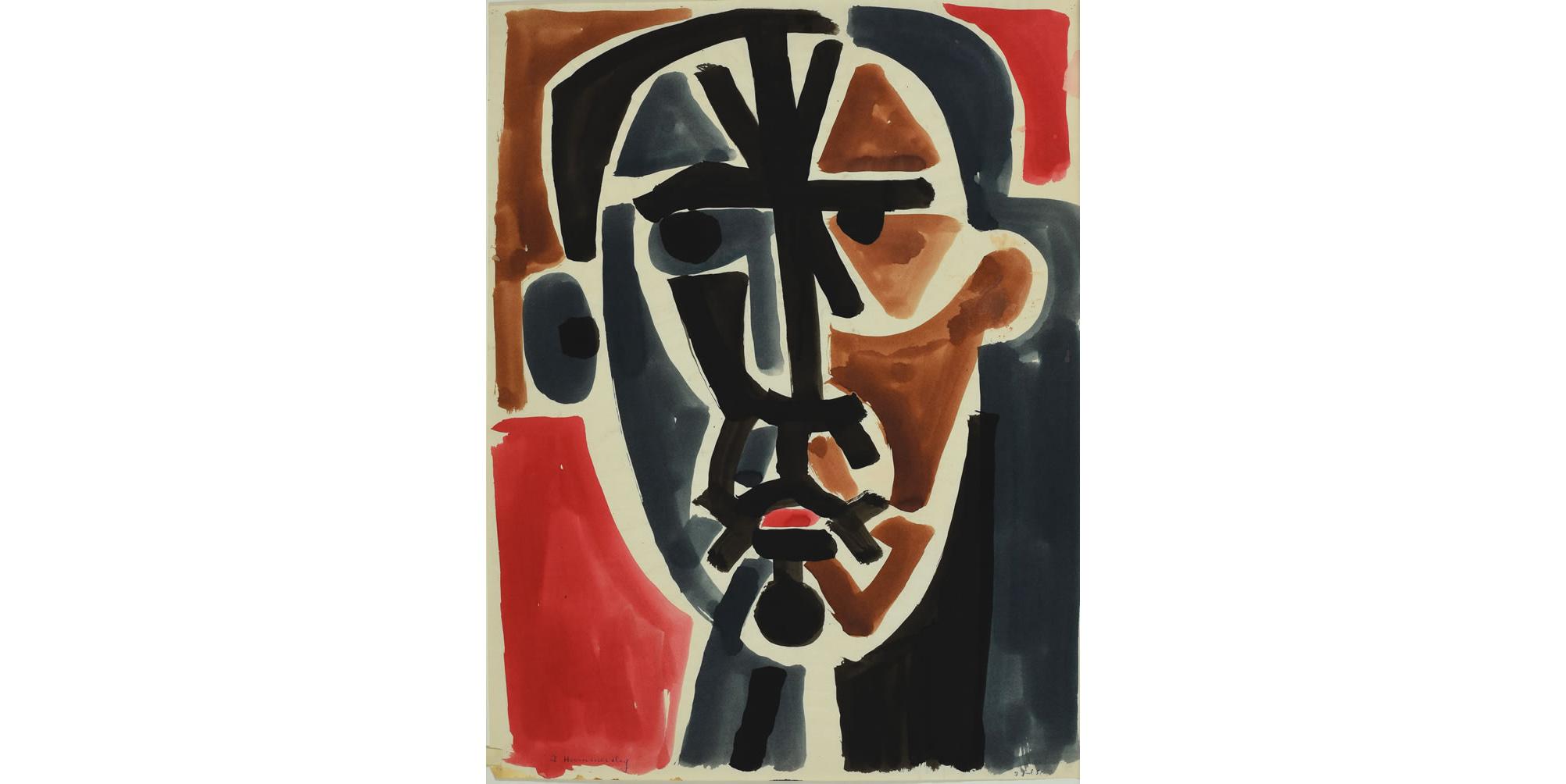 """Untitled"" by Frederick Hammersley (Laguna Art Museum Collection, Gift of the Frederick Hammersley Foundation)"