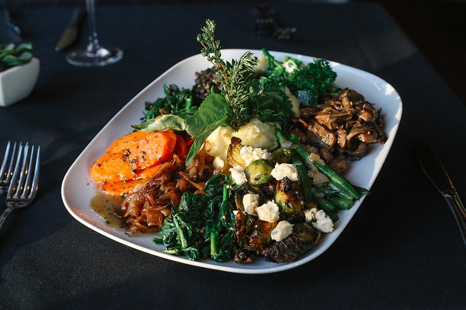 Nirvana Grille's vegetable plate