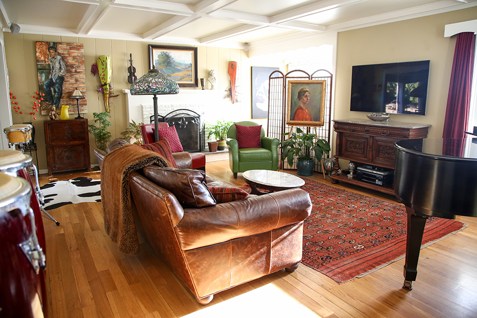Kennedy York's home is about 1,250 square feet.