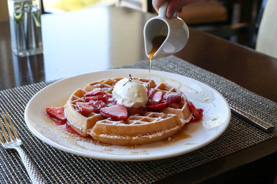Strawberry shortcake waffles (By Jody Tiongco)
