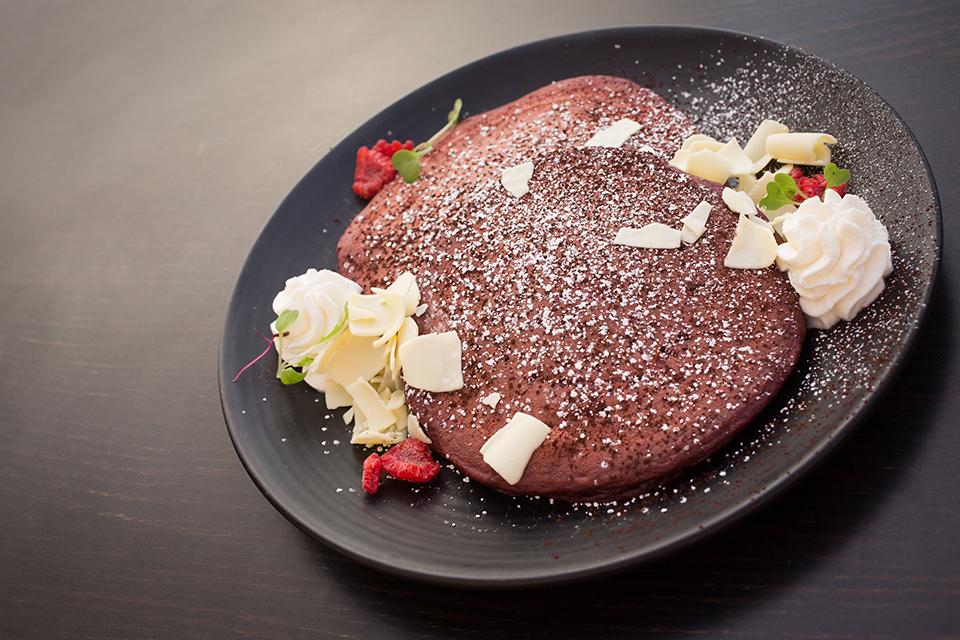 Red velvet pancakes (Courtesy of Surf & Sand Resort)
