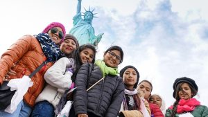 Girls and women from 11 countries served by Global GLOW and LitWorld toured New York in March during a trip to a United Nations commission.