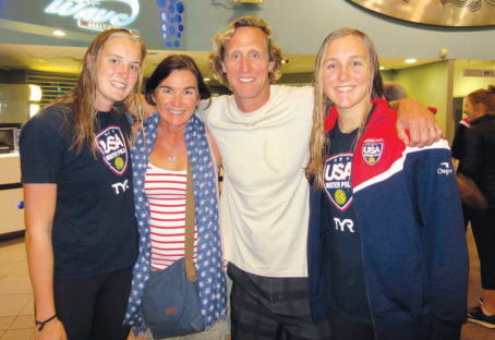 The Fischer family—(from left) Makenzie, Leslie, Erich and Aria—after a match at a tournament in New Zealand.