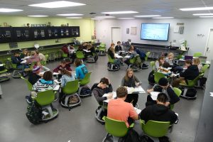 The 4CLE classrooms are designed for collaborative learning.
