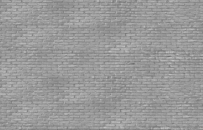 silver brick wall paper
