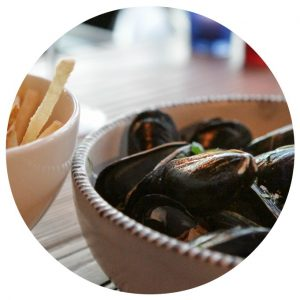 Mussels and frites at zinque