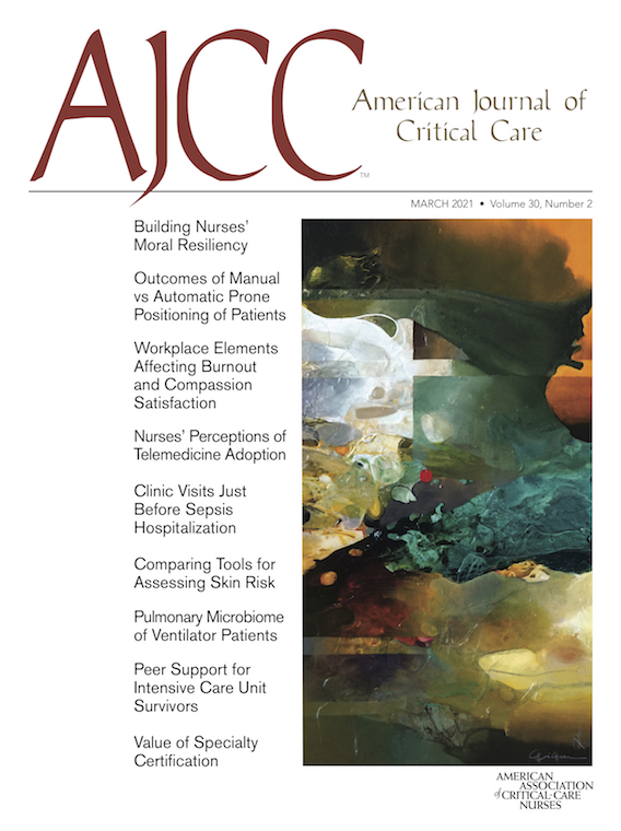 AJCC March 2021 cover_credit Courtesy of American Association of Critical-Care Nurses
