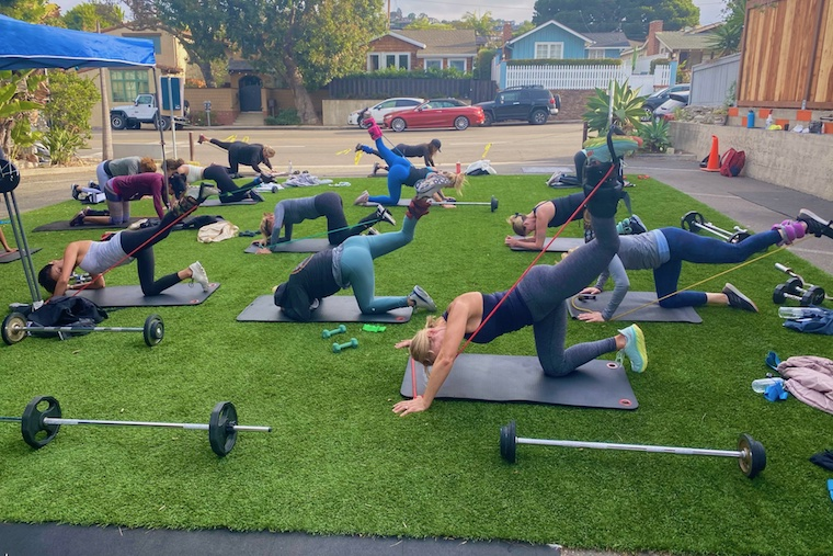 Art of Fitness outdoor Booty class