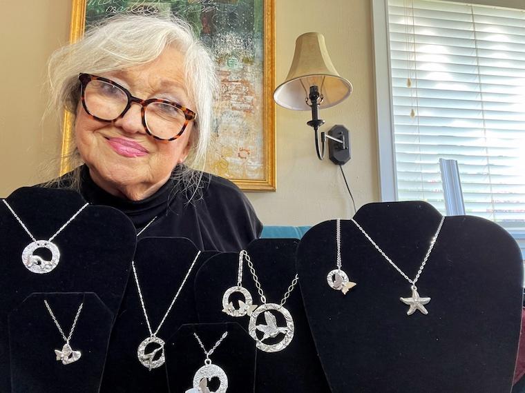 Linda Ames with jewelry_credit Linda Ames