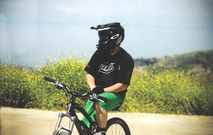 Troy Lee on bicycle_credit Troy Lee Designs