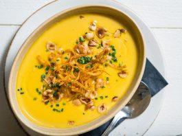 header Creamy Roasted Chestnut Squash Soup_credit courtesy of Driftwood Kitchen